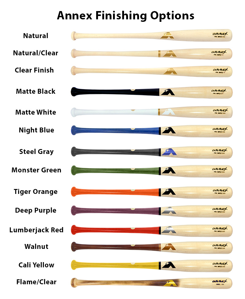 Steel Gray Monster Green Tiger Orange Deep Purple Lumberjack Red Walnut And Cali Yellow Your Choice Of Natural Or A Clear Finish Barrel Only